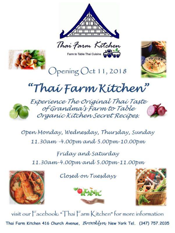 Thai Farm Kitchen Brings Farm To Table Thai Food To Church Avenue Bklyner