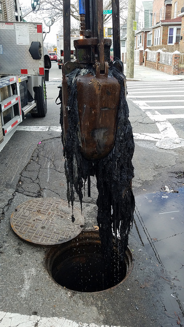 Fatbergs like these block the city's sewage system causing backups and flooding. (Photo: Compliments of NYC Department of Environmental Protection)